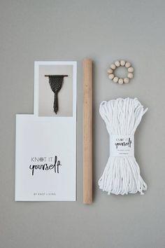 DIY Macrame Wall Hanging Kit  Do It Yourself Macrame  KNOT