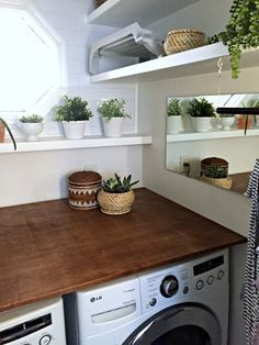 Laundry Room Makeover: DIY Plywood Countertop