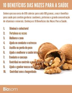 Clique na imagem ao lado e veja 10 benefícios das #nozes para a #saúde. #energia…