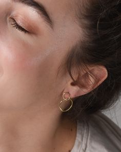Mejuri Loop Earrings in Gold Vermeil.