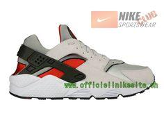 Nike Air Huarache - Chaussure Nike Sportswear Pas Cher Pour Homme Blanc/Rouge 318429-002