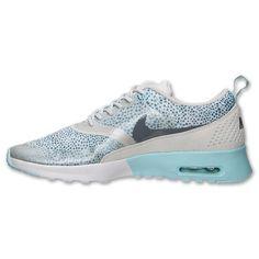 Goedkoopste Aanbieding Nike Air Max Thea Print Sneakers Dames Gespikkelde Lichtblauw / Koelgrijs / Ice Wit