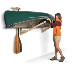 "Talic Canoe Roost canoe storage rack system: 2 inch wide webbing ""levitates"" your boat so there aren't any hard surfaces to scratch your boat. Made in USA."