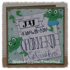 Handlettering Opkikker kaart / Handlettering Feel better soon card