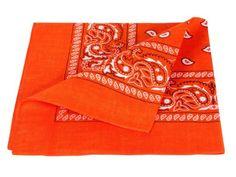 Bandana arancione paisley multifunzione classica BA-57 di colori diversi foulard scialle collo rocker biker motociclista motorcycle pirata accessorio hip hop cappellino cowboy bracciale
