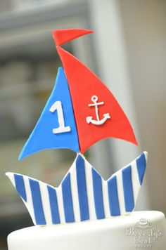 how to make a fondant boat cake topper
