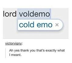 Yes, 'cause that is totally Lord Voldemort's true identity.