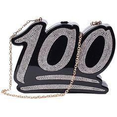 Zarapack Women's Designer 3d Rhinestone Evening Handbag Party Clutch Purse