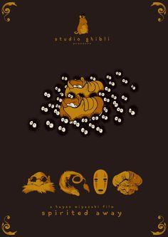 Gorgeous Spirited Away poster artwork #StudioGhibli