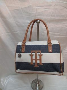 Tommy Hilfiger Satchel 6929177 467 Color Blue Beige Brown Silver Retail $ 79.00 #TommyHilfiger #Satchel