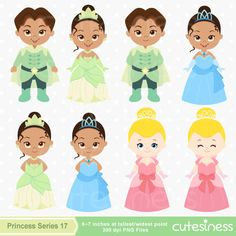 Princess Digital Clipart Princess Clipart Frog by Cutesiness