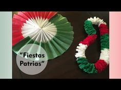 """""""Decoraciones para las Fiestas Patrias""""- Roseta tricolor y collar de papel crepe o collar hawaiano - YouTube"""