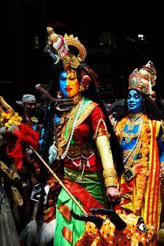 Shiva, Shakti and Vishnu