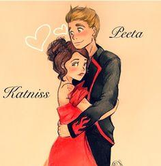 Katniss and Peeta fan art!    I love Katniss & Peeta fan art because it is so hard to find!