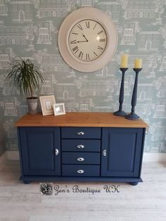 Blue painted pine sideboard dresser display cabinet kitchen - House Plans, Home Plan Designs, Floor Plans and Blueprints Farmhouse Furniture, Kitchen Furniture, Wood Furniture, Painting Pine Furniture, Mint Furniture, Kitchen Decor, Sideboard Furniture, Furniture Online, Furniture Companies