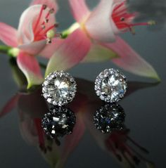 Find a pair of earrings you love at Stuart Benjamin & Co. Unique and gorgeous diamond earrings just for you! Call 297 – 7666 for more information! Diamond Studs, Halo Diamond, Diamond Jewelry, Diamond Earrings, Herkimer Diamond, Crown Jewels, Diamond Are A Girls Best Friend, Vintage Engagement Rings, Wedding Jewelry