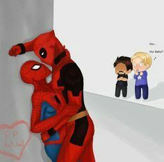 lol xD Ok, so I like Stony better but I find SPideypool more fun to draw, is that weird? xP Again, backgrounds are not my forte but I find I did a decen. Spiderman x Deadpool Spideypool, Superfamily Avengers, Deadpool Y Spiderman, Deadpool Love, Batman, Marvel Art, Marvel Heroes, Marvel Avengers, Dead Pool