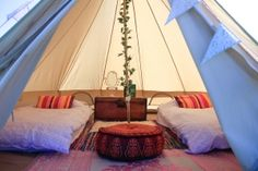 Sleeping under a canopy of stars with the soft sounds of breaking waves, you'll be transported to a personal paradise.  http://www.bluefizzevents.co.uk/yogaglamp/