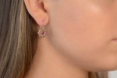 Check out this item in my Etsy shop https://www.etsy.com/listing/530469033/earrings-flower-shaped-rose-cut-diamonds