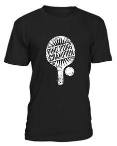 Ping Pong Champion Shirt Funny Cute Table Tennis Gift - T-shirt Cute Tshirts, Cool T Shirts, Tennis Funny, King Shirt, Tennis Gifts, Tennis Quotes, Champion Shirt, Clothing Tags, Shirt Designs