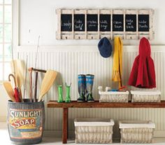 5 really easy ways to create an organized entryway. These tips can be applied to foyers, hall closets, mudrooms and more.