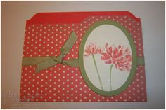 Toni Tessler (tonistamps) Independent Stampin Up Demonstrator.  file folder card Too Kind