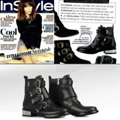c3d0273e5f7ec Le Silla biker boots in black leather and metal details.