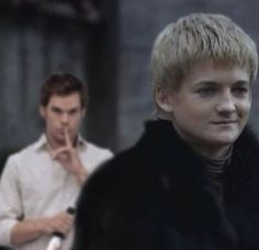 Dexter meets Joffrey Baratheon - Game of Thrones @Shannon Burch  Its King Joffrey and Dexter...Take him out Dex lol