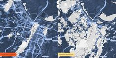 """Map Shows Where Sea Level Rise Will Drown American Cities"" (Source: Wired)"