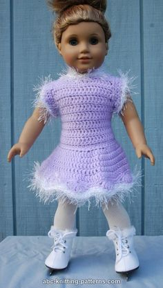 American Girl Doll Skating Dress- free crochet pattern
