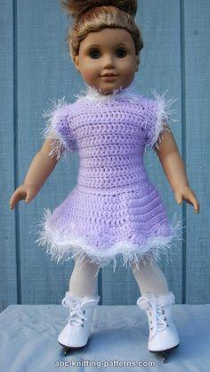 American Girl Doll Skating Dress- free crochet pattern