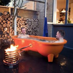 Mobile Open-Air Hot Tub by Weltevree