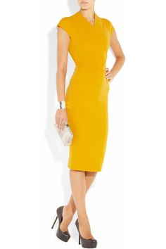 Love this VB dress. Colour, style, everything (except maybe not the double ended zipper in the back)