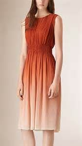 Ombre orange chifon dress...soft, sweet, and oh so trendy!