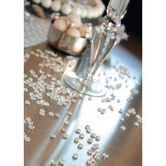 Perle de pluie couleur translucide blanche, ivoire, transparent, orange, fuschia, chocolat, turquoise, vert anis, noir, sachet de 300 perles de pluie en forme de goutte de pluie 7 mm pour deco.