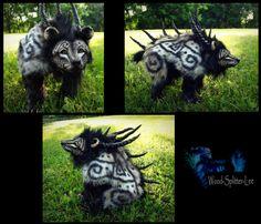--SOLD--Poseable Fantasy Prehistoric Tundra Bear! by Wood-Splitter-Lee.deviantart.com on @deviantART