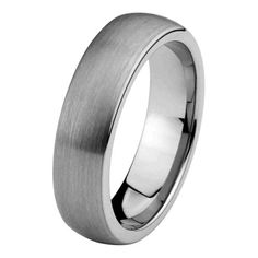 $24 ON EBAY SO MAY BE LOW GRADE TUNGSTEN CARBIDE----6mm-Domed-Cobalt-Free-Tungsten-Carbide-Brushed-Comfort-Fit-Wedding-Band-Ring