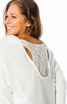 Kismet Miranda Lace back sweater at bootlegger.com