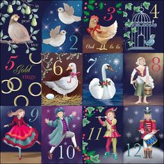 """images of 12 days of Christmas 