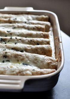 Butternut Squash, Bean and Fontina Enchiladas | howsweeteats.com