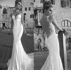 Cheap Backless - Discount Sheer Backless Wedding Dresses Vintage Lace Bead Open Online with $146.6/Piece | DHgate