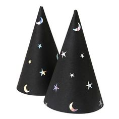 Meri Meri pointed star hats and moons
