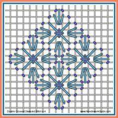 Double Crossed Diamond Stitch x 4 #NeedlepointStitch