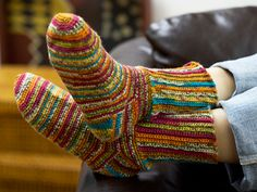 Colorful Crochet Socks - Free crochet sock pattern