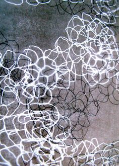 Mark making. Portfolio Oomph - for a drawing to include the thought and form of links and chains. the layering of patterns creates a representation of a 3d print
