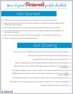 Your 16 Point #Pinterest Profile Checklist