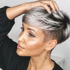 Popular Short Hairstyles, Cute Short Haircuts, Short Undercut Hairstyles, Black Hair Short Hairstyles, Pixie Cut With Undercut, Edgy Pixie Haircuts, Undercut Pixie Haircut, Pixie Haircut Styles, Female Hairstyles