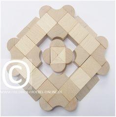 SCHÖNHEITSFORMEN (Mandalas) mit Holzbausteinen - Fröbel Baby Building Blocks, Form, Symbols, Glyphs, Icons