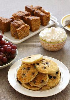 Brunch: Overnight Blueberry Pancakes -