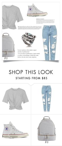 """""""Just Chilling"""" by jessicalouisefirth ❤ liked on Polyvore featuring T By Alexander Wang, Topshop, Converse, KAROLINA and MICHAEL Michael Kors"""